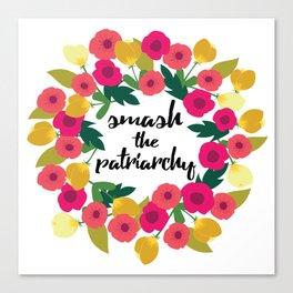 Smash the Patriarchy Wreath Canvas Print