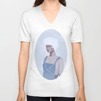 constellations V-neck T-shirts featuring Wintry constellations by Pastellish