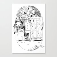 couple Canvas Prints featuring Couple by Mono Ahn