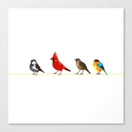 Little birds. Spring. Canvas Print