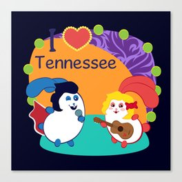 Ernest and Coraline | I love Tennessee Canvas Print