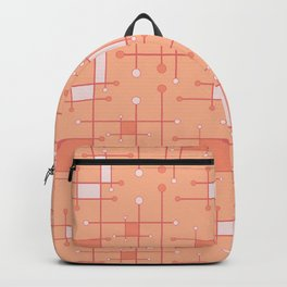 Intersecting Lines in Peach and Pink Backpack