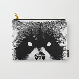 Black Metal Raccoon Carry-All Pouch