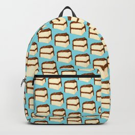 Chocolate Cake Slice Pattern - Blue Backpack