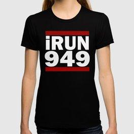 I Run 949 area code Design Irvine Running Design Gift T-shirt