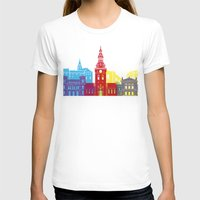 oslo T-shirts featuring Oslo skyline pop by Paulrommer