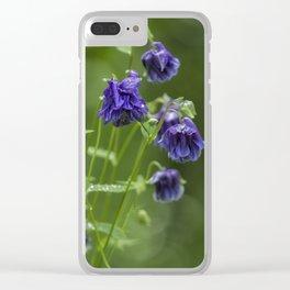 Purple Columbine Clear iPhone Case