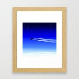 Jet Heading Home Framed Art Print