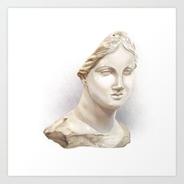 The Chios Head Art Print