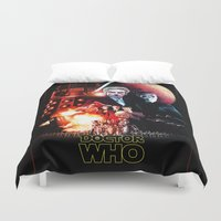 starwars Duvet Covers featuring StarWars / DoctorWho by thedrunknown