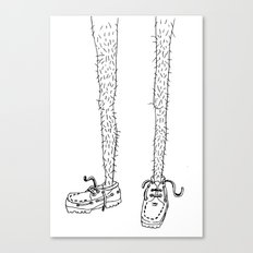 hairy legs Canvas Print