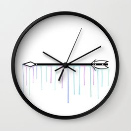 Arrow [Watercolor Drips] Wall Clock