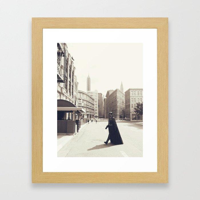 Darth Vader Does New York Framed Art Print