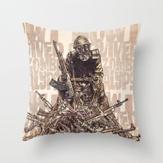 How I Survived The Zombie Apocalypse Throw Pillow