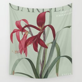 Victoria's Garden, feat. Amaryllis Formosissima, Magazine Cover Wall Tapestry