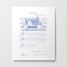 Electric Car Break Vintage Patent Hand Drawing Metal Print