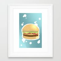 hamburger Framed Art Prints featuring Hamburger  by Elisehill3