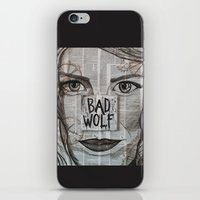 bad wolf iPhone & iPod Skins featuring Bad Wolf  by Chrissie Brown Art