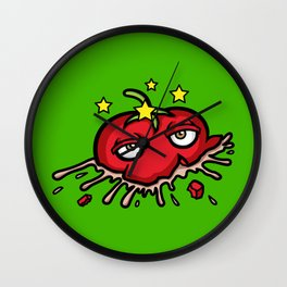 Smashed Tomato Wall Clock