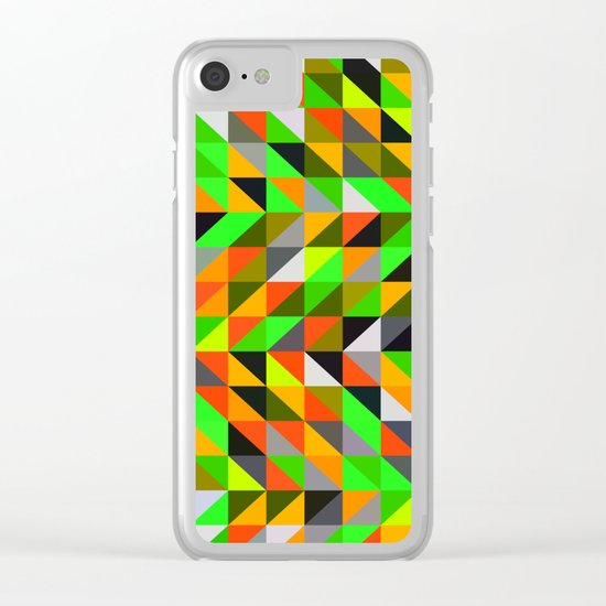 twerl triangles Clear iPhone Case