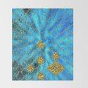 Blue Aqua Turquoise And Gold Glitter Mermaid Scales -Beautiful Mermaidscales Pattern by betterhome