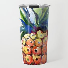 Pineapple, pina-colada, pineapple kitchen tropical design Travel Mug