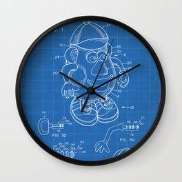 Mr Potato Head Patent - Potato Head Art - Blueprint Wall Clock