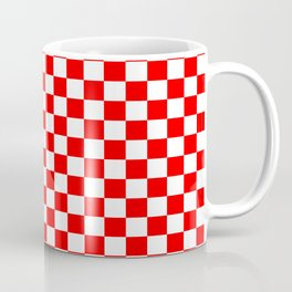Red White Boxes Design Coffee Mug