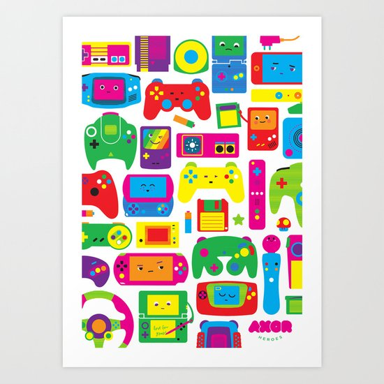 AXOR Heroes - Love For Games Art Print