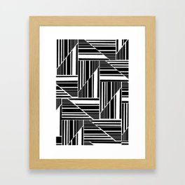 STRIPED PATCHWORK Framed Art Print
