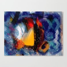 Energy of life is love abstract painting Canvas Print