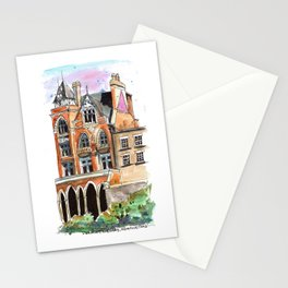 Durning Library, London Watercolour Travel Illustration Stationery Cards