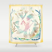 mermaid Shower Curtains featuring Mermaid by famenxt