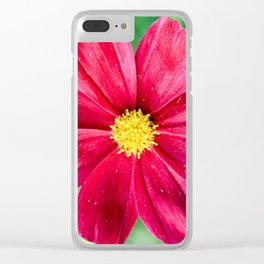Cosmos Flower in the Garden Clear iPhone Case