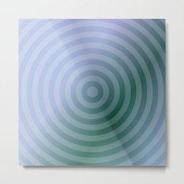 Teal Circles Metal Print