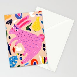 Pink Bunny Stationery Cards