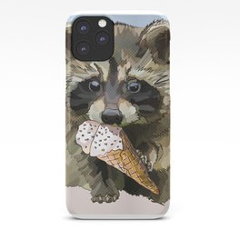 Raccoon Eating Ice-cream on the Beach | Summer Vacation | Cute Baby Animal iPhone Case