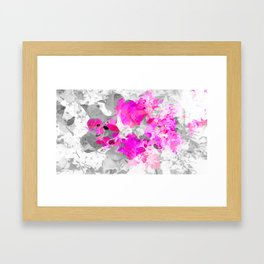 Abstract floral art (pink bougainvilleas) Framed Art Print