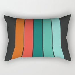 Flipside - 70's style trendy throwback retro gifts 1970s abstract art Rectangular Pillow