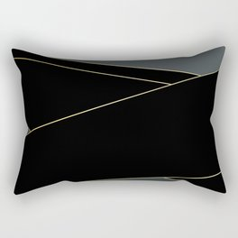 Angelica . Grey and black tape Rectangular Pillow