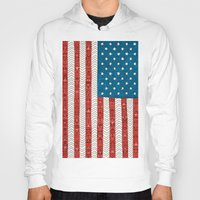 flag Hoodies featuring USA by Bianca Green