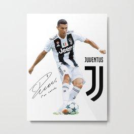Ronaldo Juventus 2018 Metal Print