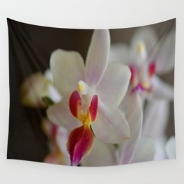 White Orchid Close Wall Tapestry