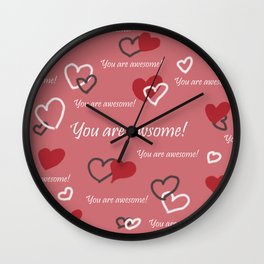 You are awesome by Lu Wall Clock