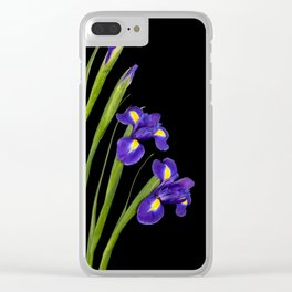 Spring Iris Clear iPhone Case