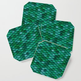 Green Penny Scales Coaster