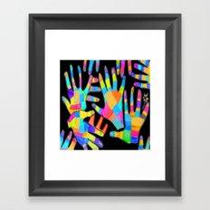 Hands of colors | Hands of light Framed Art Print