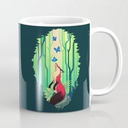 The Fox and the Butterflies Coffee Mug