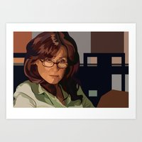 battlestar galactica Art Prints featuring Battlestar Galactica : Mary McDonnell by Grace Teaney Art