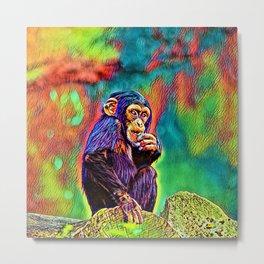 AnimalColor_Chimpanzee_005_by_JAMColors Metal Print